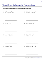 Simplifying Polynomial Expressions