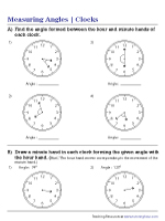 Measuring Angles in a Clock