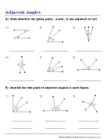 Identifying Adjacent Angles