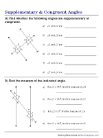 Supplementary and Congruent Angles in Parallel Lines