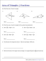 Area of Triangles | Fractions