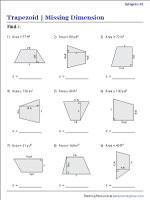 Find the Missing Dimension from Area Worksheets