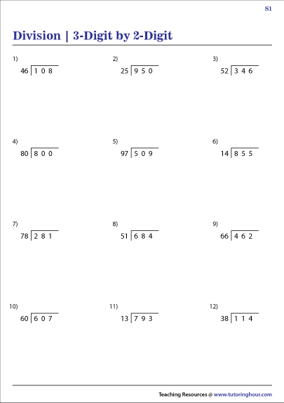 3-Digit by 2-Digit Division