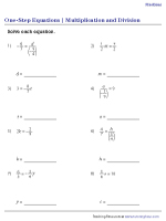 Multiplication and Division – Fractions