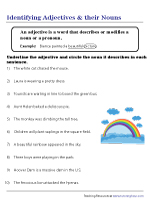 Recognizing Adjectives and Nouns