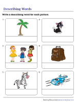 Describing Pictures with Adjectives