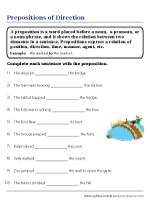 Prepositions of Direction