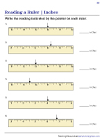 Reading Rulers in Inches | Worksheet #2