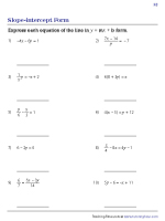 Find the Equation in y = mx + b Form