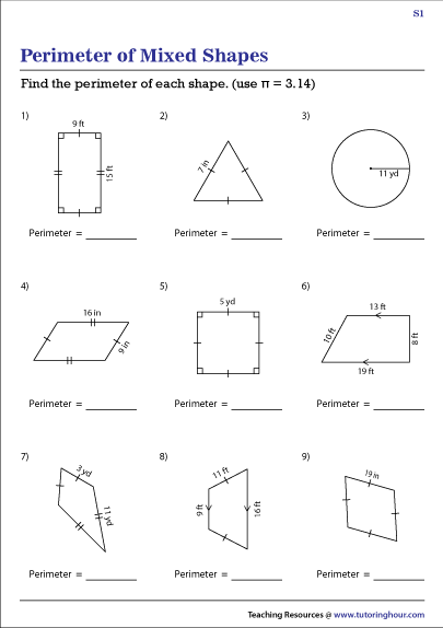 Perimeter of Mixed 2-Dimensional Shapes
