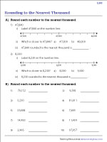 Rounding to the Nearest Thousand - Level 1 | Revision Worksheet #2