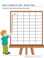 Skip Counting by 100s Blank Chart