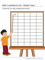 Skip Counting by 10s Blank Chart