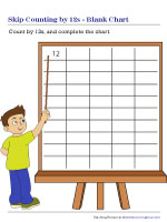 Skip Counting by 12s | Blank Chart