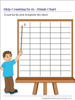 Skip Counting by 6s | Blank Chart
