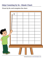Skip Counting by 8s | Blank Chart
