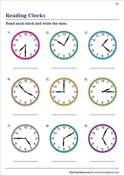 Reading Clocks to Tell the Time