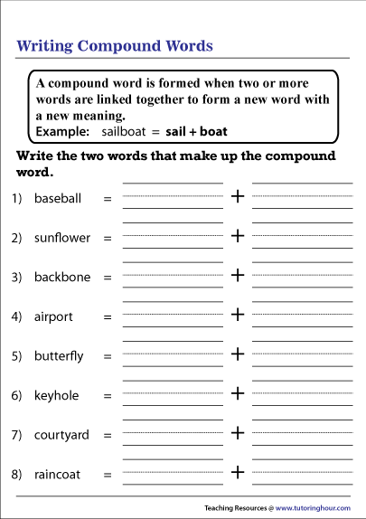Breakdown Compound Words