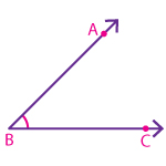 Naming an angle using three points